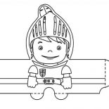 Mike the Knight, Mike The Knight Papercraft Coloring Page: Mike the Knight Papercraft Coloring Page
