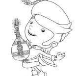 Mike the Knight, Mike The Knight Playing Guitar Coloring Page: Mike the Knight Playing Guitar Coloring Page
