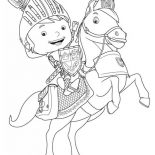 Mike the Knight, Mike The Knight Rearing Galahad Coloring Page: Mike the Knight Rearing Galahad Coloring Page