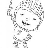 Mike the Knight, Mike The Knight Rise His Sword Coloring Page: Mike the Knight Rise His Sword Coloring Page