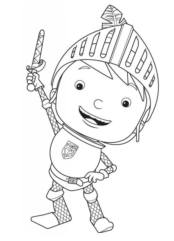 Kleurplaat Mike De Ridder Mike The Knight Rise His Sword Coloring Page Color Luna