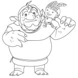 Mike the Knight, Mike The Knight And Troll Coloring Page: Mike the Knight and Troll Coloring Page