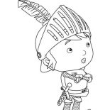 Mike the Knight, Mike The Knight Is Thinking To Solve Problem Coloring Page: Mike the Knight is Thinking to Solve Problem Coloring Page