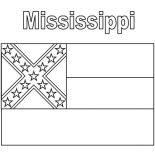 State Flag, Mississippi State Flag Coloring Page: Mississippi State Flag Coloring Page