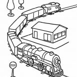 Trains, Model Train Coloring Page: Model Train Coloring Page