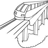 Trains, Modern Train Coloring Page: Modern Train Coloring Page