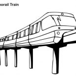 Trains, Monorail Train Coloring Page: Monorail Train Coloring Page