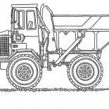 Digger, Monster Dump Truck In Digger Coloring Page: Monster Dump Truck in Digger Coloring Page