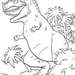 T-Rex, Monstrous Dinosaurus T Rex Coloring Page: Monstrous Dinosaurus T Rex Coloring Page