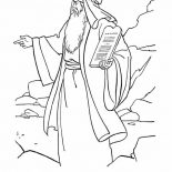 Moses, Moses Came Down From Mount Sinai With The Law Coloring Page: Moses Came Down from Mount Sinai with the Law Coloring Page