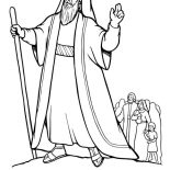 Moses, Moses Led Gods People Out Of The Land Of Egypt Coloring Page: Moses Led Gods People Out of the Land of Egypt Coloring Page