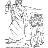 Moses, Moses Led His People From Egypt Coloring Page: Moses Led His People from Egypt Coloring Page