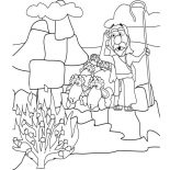 Moses, Moses See Burned Bush Coloring Page: Moses See Burned Bush Coloring Page