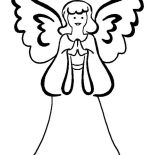 Angels, Mother Of Angels Coloring Page: Mother of Angels Coloring Page