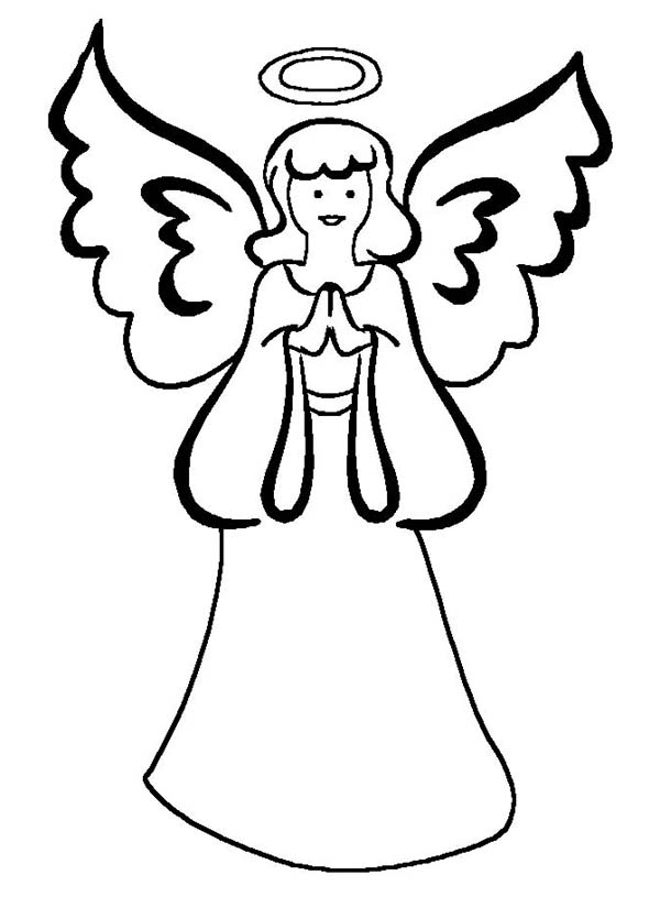 Angels, : Mother of Angels Coloring Page
