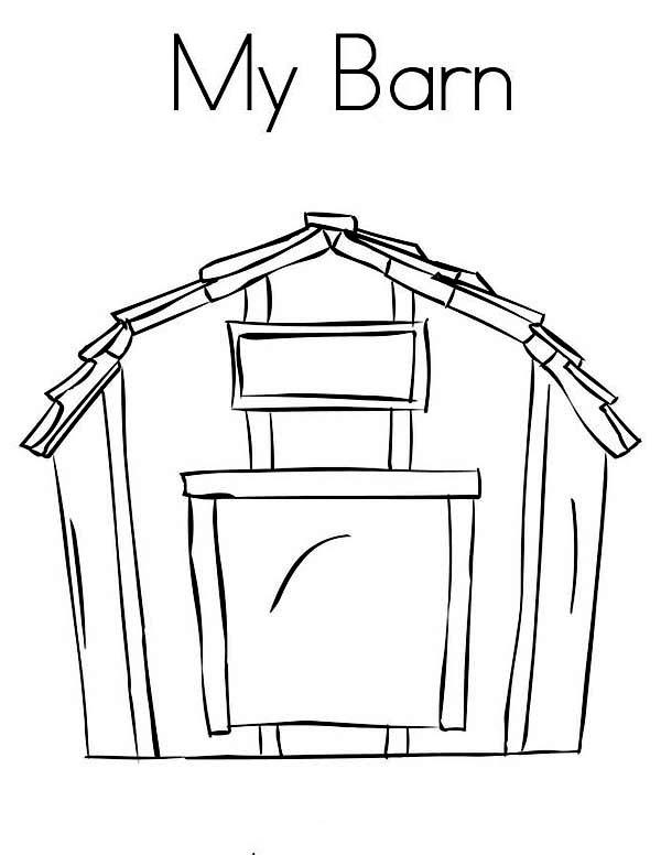 Barn, : My Barn Coloring Page