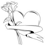Hearts & Roses, My Hearts And Roses For You Coloring Page: My Hearts and Roses for You Coloring Page