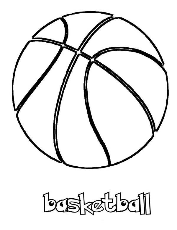 NBA, : NBA Basketball Coloring Page