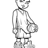 NBA, NBA Cartoon Of Michael Jordan Coloring Page: NBA Cartoon of Michael Jordan Coloring Page