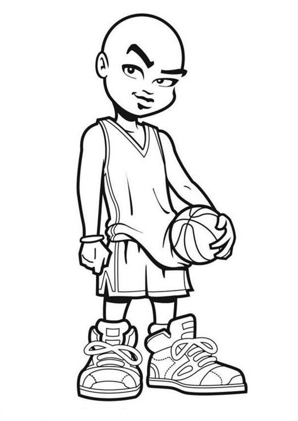 NBA, : NBA Cartoon of Michael Jordan Coloring Page
