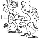 NBA, NBA Game Coloring Page: NBA Game Coloring Page