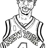 NBA, NBA New York Knick Coloring Page: NBA New York Knick Coloring Page