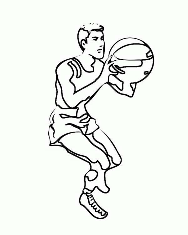 NBA, : NBA Player Free Throw Coloring Page