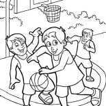 NBA, NBA Street Game Coloring Page: NBA Street Game Coloring Page