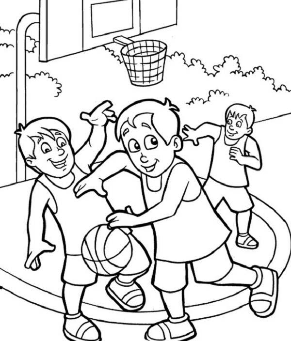 NBA, : NBA Street Game Coloring Page