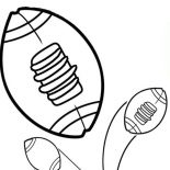 NFL, NFL Football Picture Coloring Page: NFL Football Picture Coloring Page