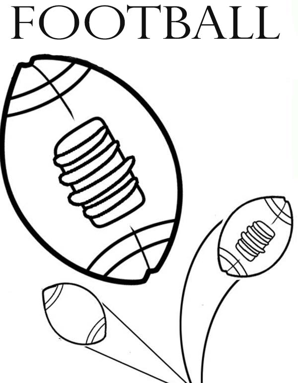 NFL, : NFL Football Picture Coloring Page
