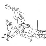 NFL, NFL Player Being Tackled Coloring Page: NFL Player Being Tackled Coloring Page