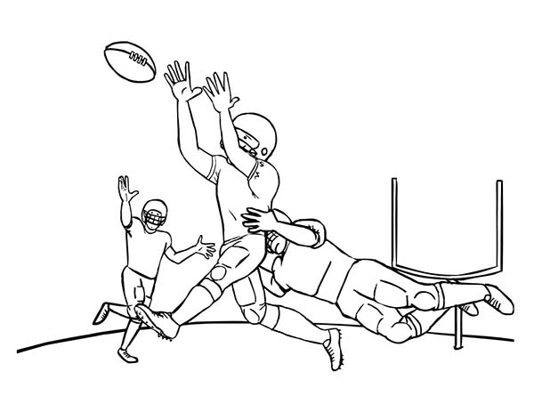 NFL, : NFL Player Being Tackled Coloring Page
