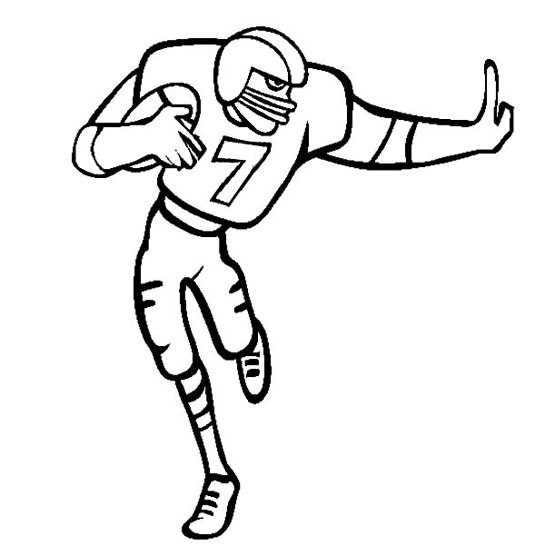 NFL, : NFL Player Prepare to Score Coloring Page