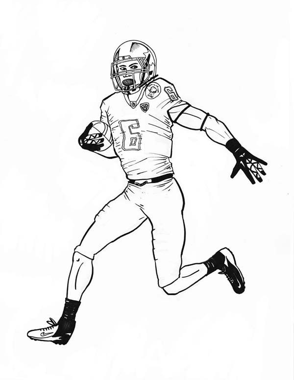 NFL, : NFL Scoring Touch Down Coloring Page