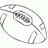 NFL, NFL Standard Football Coloring Page: NFL Standard Football Coloring Page