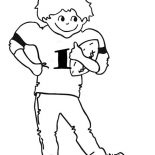 NFL, NFL Young Player Of The Year Coloring Page: NFL Young Player of the Year Coloring Page