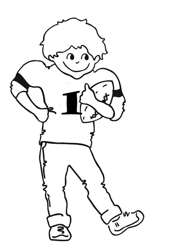 NFL, : NFL Young Player of the Year Coloring Page