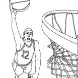 NBA, Nba Basketball Player Coloring Page: Nba Basketball Player Coloring Page