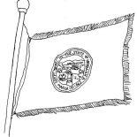 State Flag, Nebraska State Flag Coloring Page: Nebraska State Flag Coloring Page