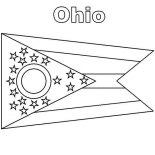 State Flag, Ohio State Flag Coloring Page: Ohio State Flag Coloring Page