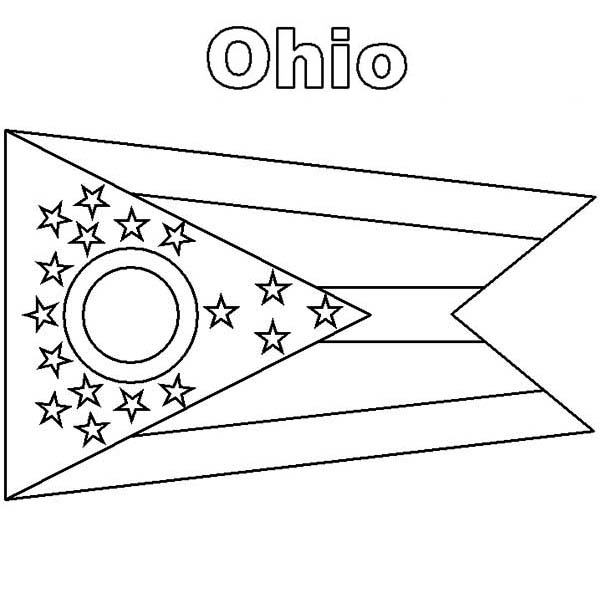 Ohio State Flag Coloring Page : Color Luna