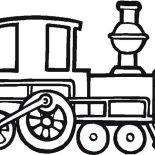 Trains, Old Locomotive Train Coloring Page: Old Locomotive Train Coloring Page