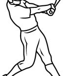 MLB, One Strike On MLB Game In MLB Coloring Page: One Strike on MLB Game in MLB Coloring Page