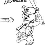 MLB, Orbit The Mascot In MLB Coloring Page: Orbit the Mascot in MLB Coloring Page
