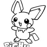 Pichu, P Is For Pichu Coloring Page: P is for Pichu Coloring Page