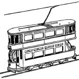 Trains, Passanger Loader Train Coloring Page: Passanger Loader Train Coloring Page