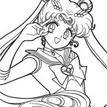 Sailor Moon, Passionate Sailor Moon Coloring Page: Passionate Sailor Moon Coloring Page