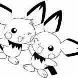 Pichu, Pichu Best Friend Coloring Page: Pichu Best Friend Coloring Page