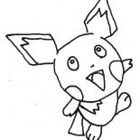 Pichu, Pichu Outline Coloring Page: Pichu Outline Coloring Page